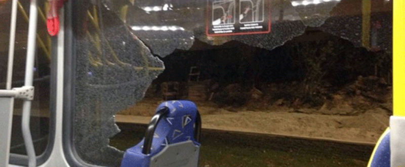 Autobús agredido en Río. Fuente: AD
