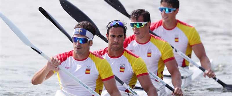 Javier Hernánz, Rodrigo Germade, Óscar Carrera e Íñigo Peña. Fuente: EFE