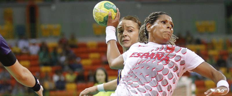 Marta Mangué (balonmano). Fuente: EFE