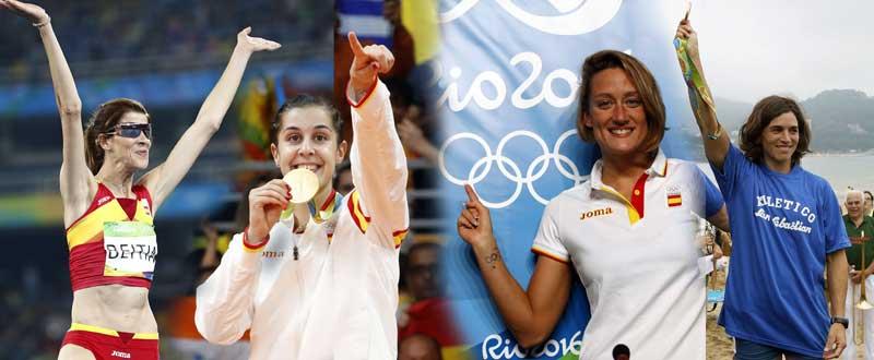 Ruth Beitia, Carolina Marín, Mireia Belmonte y Maialen Chourraut lograron la medalla de oro en Río. Fuente: AD