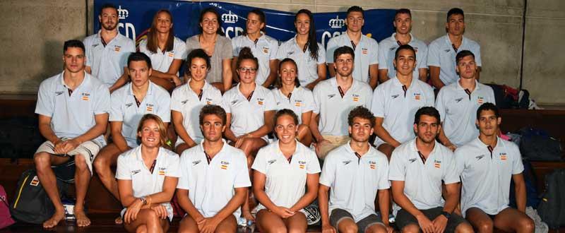 Equipo de natación en Río. Foto: CSD