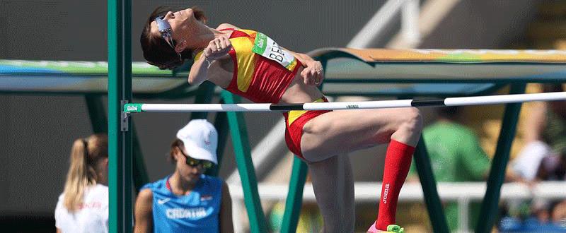 La saltadora española Ruth Beitia, campeona olímpica, durante los Juegos.