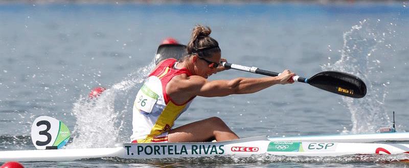 Teresa Portela, semis Río. Fuente: EFE