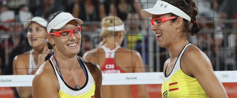 Liliana Fernández y Elsa Baquerizo (voley playa en Río 2016). Fuente: EFE