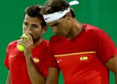 Rafa Nadal y Marc López, a un paso de las medallas