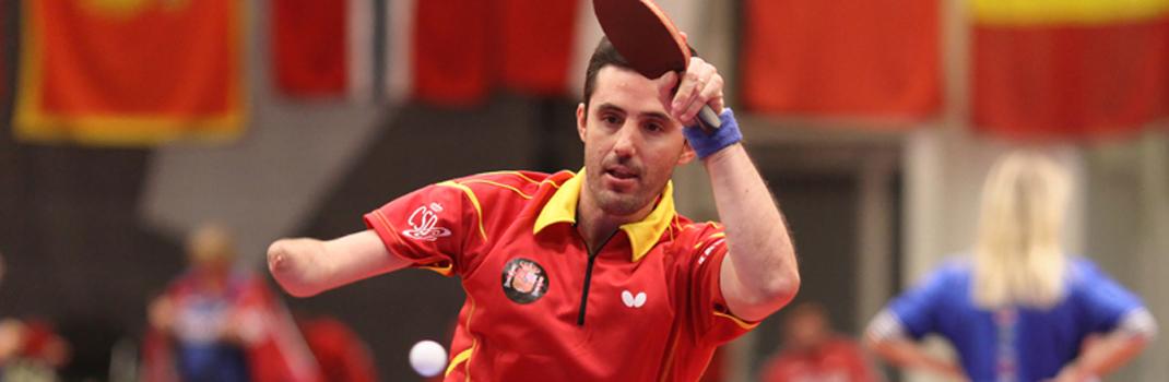 Jose Manuel Ruiz jugando contra la República Checa. Foto: paralimpicos