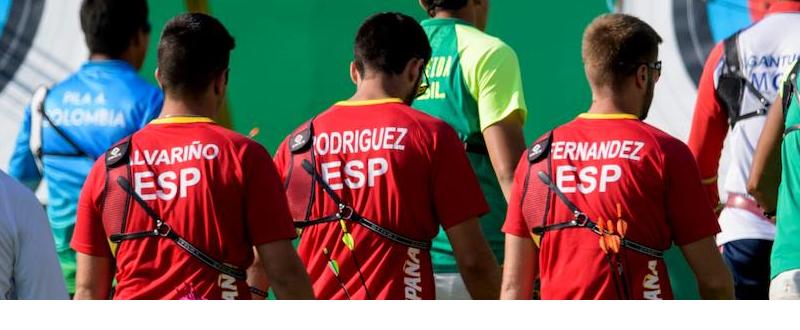 Equipo español de tiro con arco. FUENTE: COE