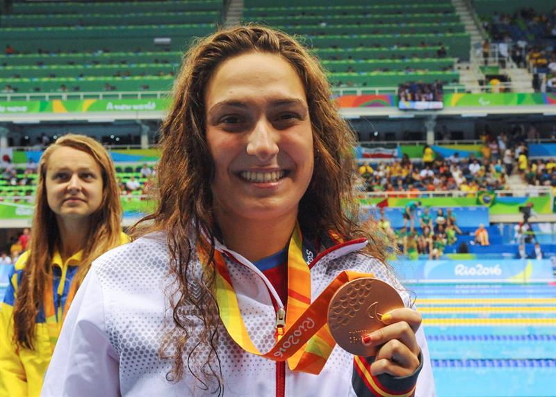 Bronce de Ariadna Edo en los 400 metros libre en Río 2016. Fuente: CPE