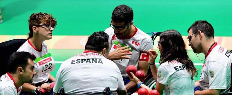 Equipo español Bc1-BC2 de boccia en Río. Fuente: Charly Quinteros
