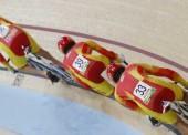 Bronce para el tridente español de velocidad en pista