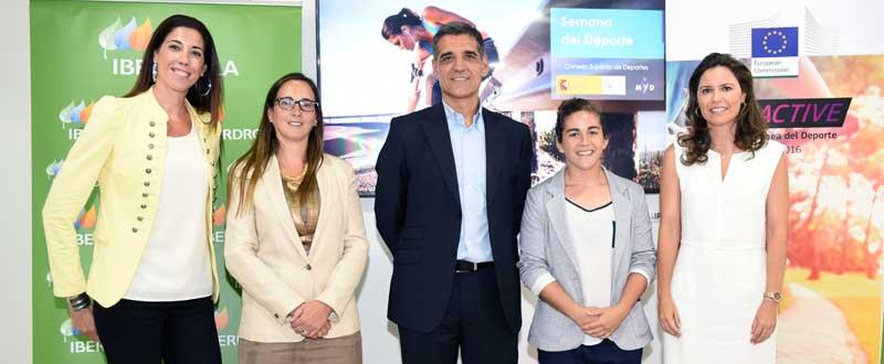 De izquierda a derecha: Carlota Castrejana (conductora del acto), Iris Córdoba, Javier Reyero, Patricia García y Susana Pérez Amor. Fuente: CSD