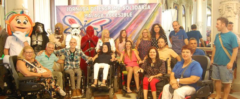 Presentan la Jornada Esgrima Solidaria Málaga Accesible. Fuente: Avance Deportivo