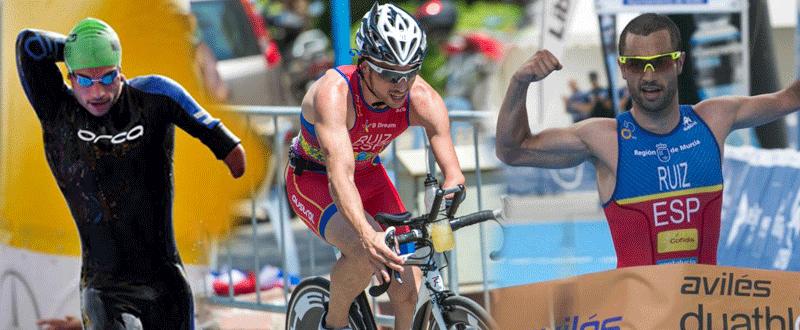 Jairo Ruiz en las 3 modalidades del triatlón, ha sido bronce en los Juegos de Río. Fuente: AD