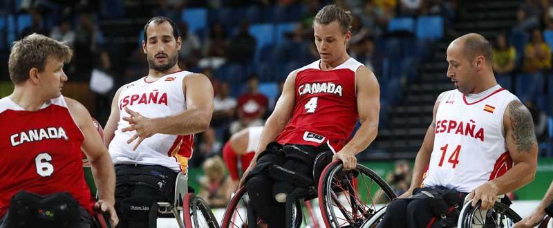 Alejandro Zarzuela y Jaume Llambí ante Canadá en Río. Fuente: CPE