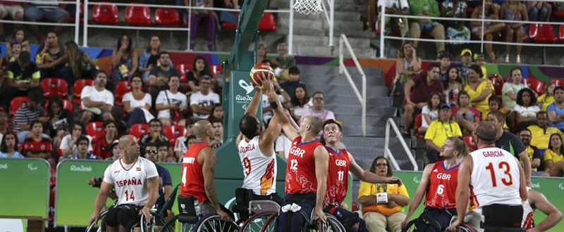 España en baloncesto en silla de ruedas. Fuente: EFE