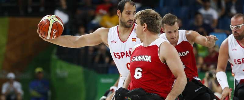 Alejandro Zarzuela (selección española de baloncesto en silla) en Río. Fuente: CPE