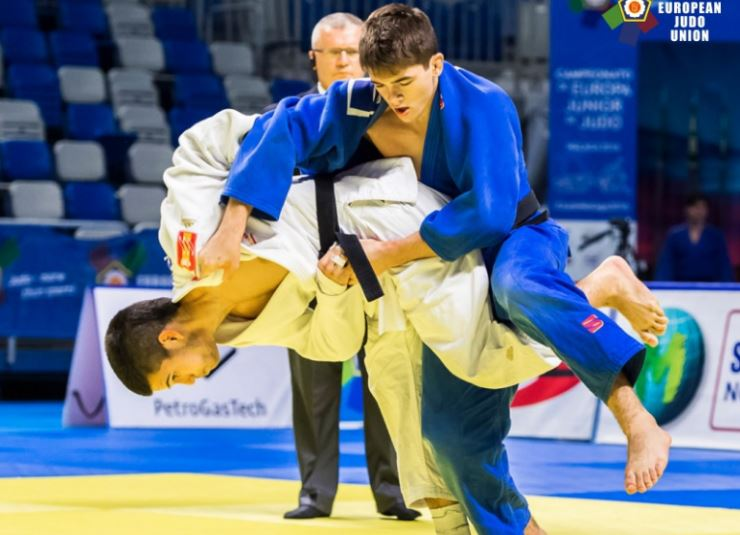 David García Torne durante el combate. Fuente: European Judo Union