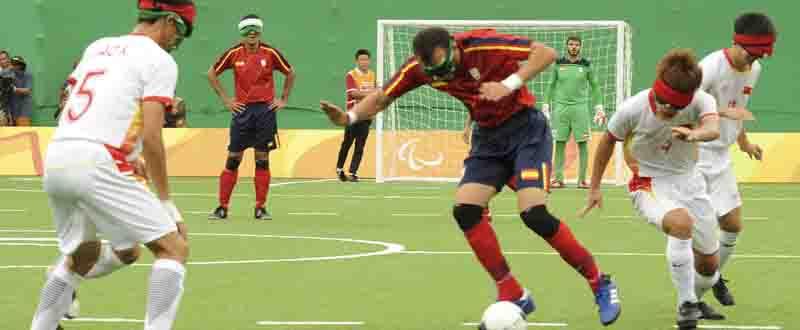 El futbolista de la selección española, Youssef El Haddaoui, en un partido en Río. Fuente: CPE