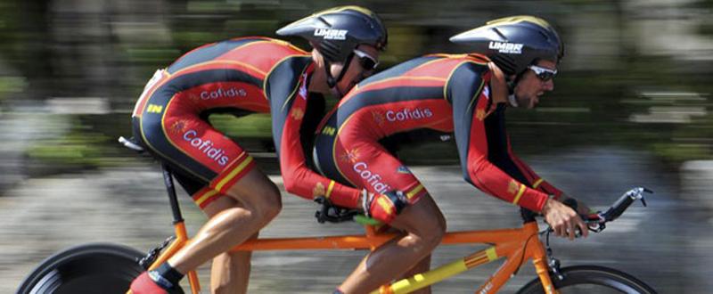 El tándem formado por Ignacio Ávila y Joan Font, plata en la prueba de fondo en los Juegos de Río. Fuente: CPE