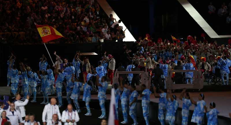 España en la ceremonia inaugural de los JJPP de Río 2016. Fuente: Diego Luchini