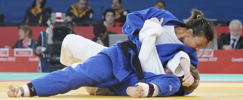 Monica Merenciano en un combate durante los Juegos Paralímpicos de Londres. Fuente: CPE