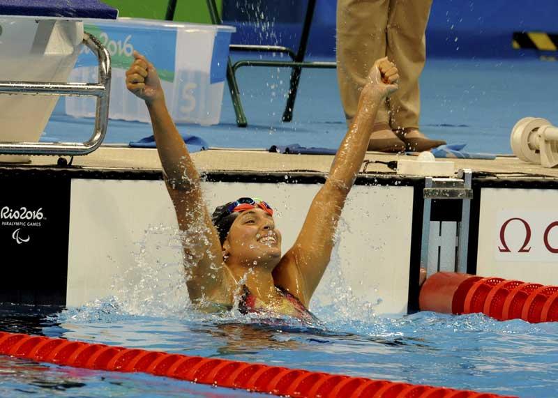 Michelle Alonso revalida oro en Río. Fuente: CPE