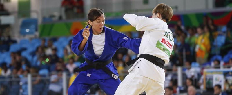 La judoca valenciana Monica Merenciano durante uno de sus combates en los Juegos de Rio. Fuente: CPE