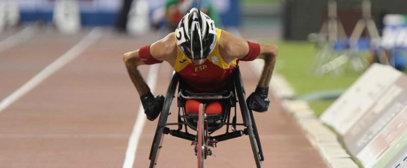 El atleta Santiago Sanz, durante la prueba de los 1.500 metros en el pasado Mundial. Fuente: CPE