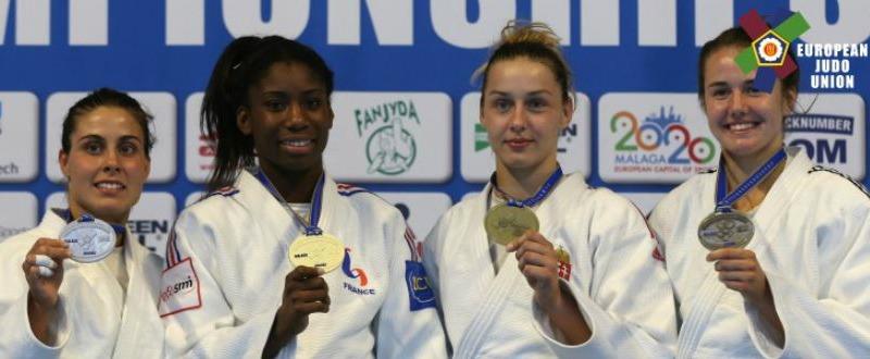 Sara Rodríguez en el podio. Fuente: European Judo Union