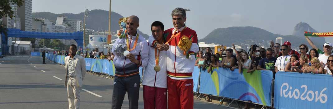 Abderrahman en el podio de Río. Fuente: CPE