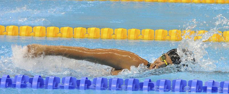 Teresa Perales medalla de oro en 50m espalda. Fuente: AD