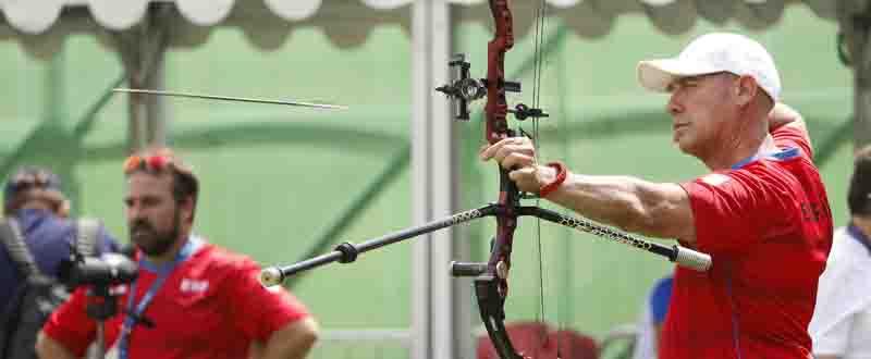 El arquero español Willy Rodríguez, durante la competición de tiro con arco en los Juegos de Río. Fuente: CPE