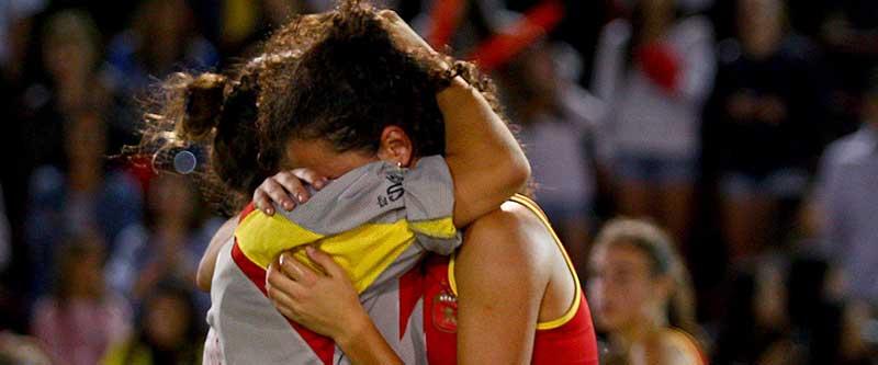 Selección española sub-21 femenina de hockey hierba. Fuente: Rfeh