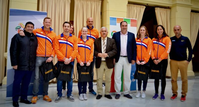 La selección holandesa de natación.