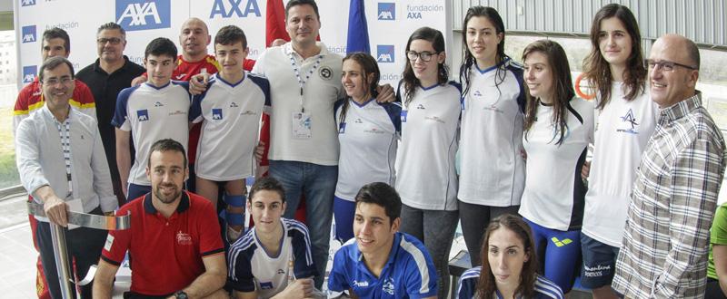 El equipo AXA de promesas paralímpicas de natación durante el campeonato de España. Fuente: CPE