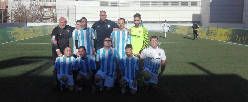 El equipo del ONCE Málaga antes de su partido frente a Sevilla. Fuente: AD