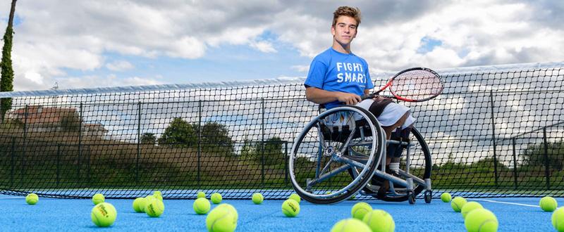 El tenista gallego, Martín de la Puente, busca conquistar su tercer Mundial sub 18. Fuente: XIS IMAXE