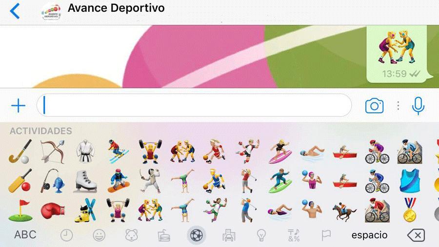 Nueva edición de Whatsapp. Fuente: Avance Deportivo