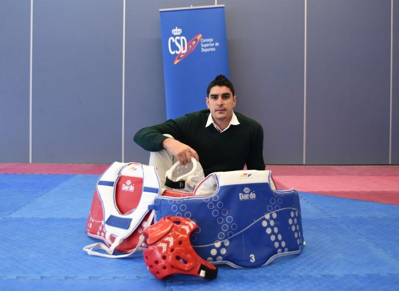 Nico García, subcampeón de taekwondo en Londres 2012 y exdeportista inscrito en el PROAD. Fuente: CSD.