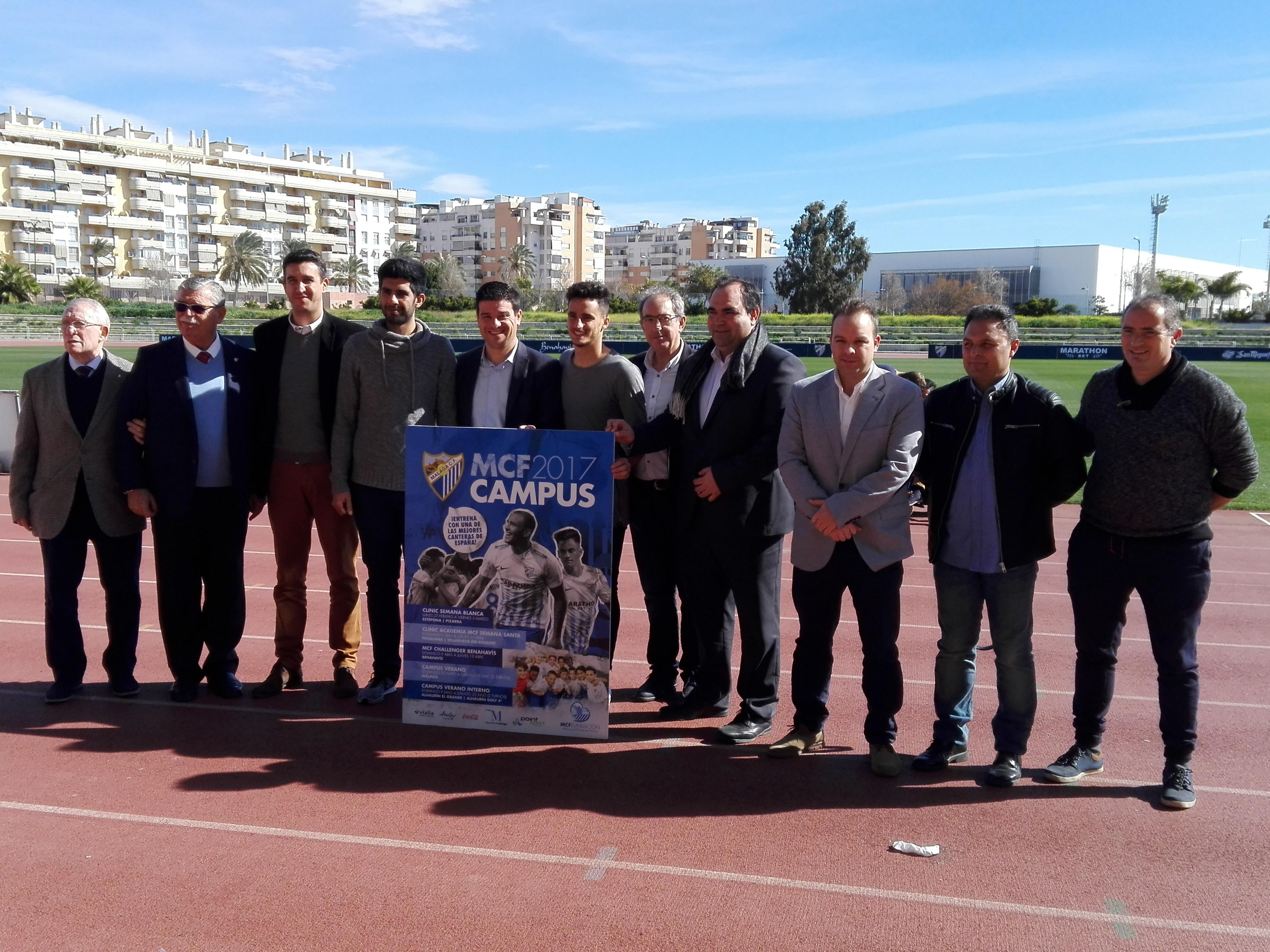 Presentación del Campus del Málaga C.F. Fuente: Avance Deportivo