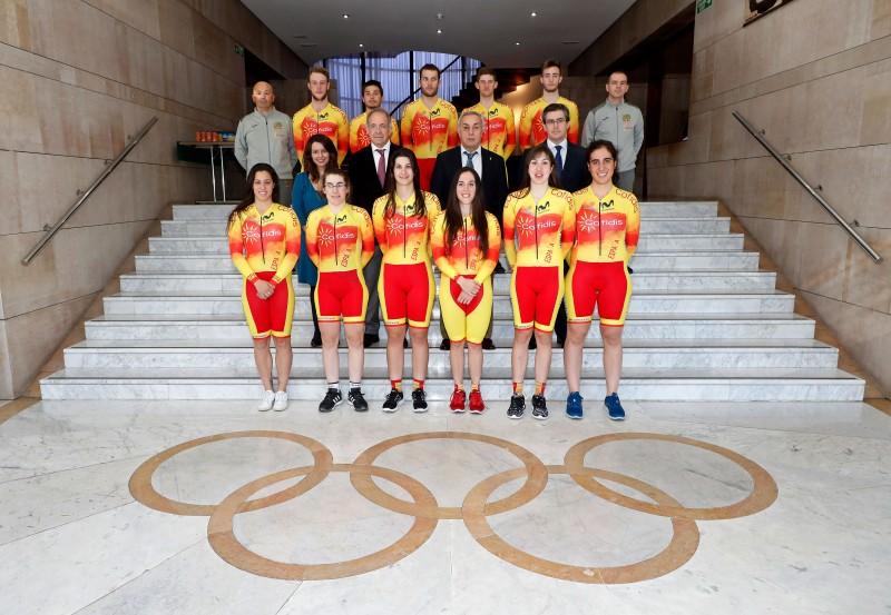 Selección española de ciclismo en pista. Fuente: COE.