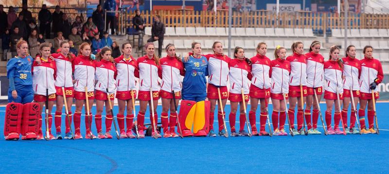 Selección femenina española de hockey hierba. Fuente: Rfeh