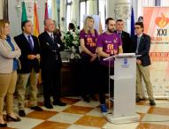 Pablo Ráez como bandera en los Juegos Mundiales de Deportistas Trasplantados en Málaga