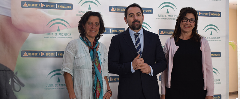 Lucía Quiroga, Antonio Fernández y Monsalud Bautista. Fuente: Avance Deportivo/LPT