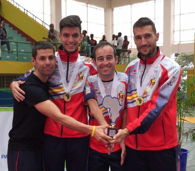 Alcázar, Santana, Vidal y Amado. Fuente: Fetaekwondo
