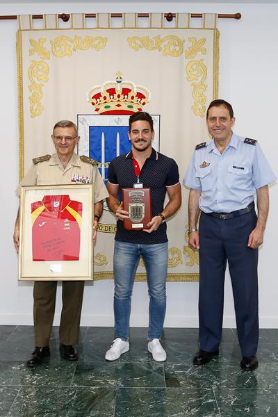 General López del Pozo, Damián Quintero y General Braco. Fuente: EMAD