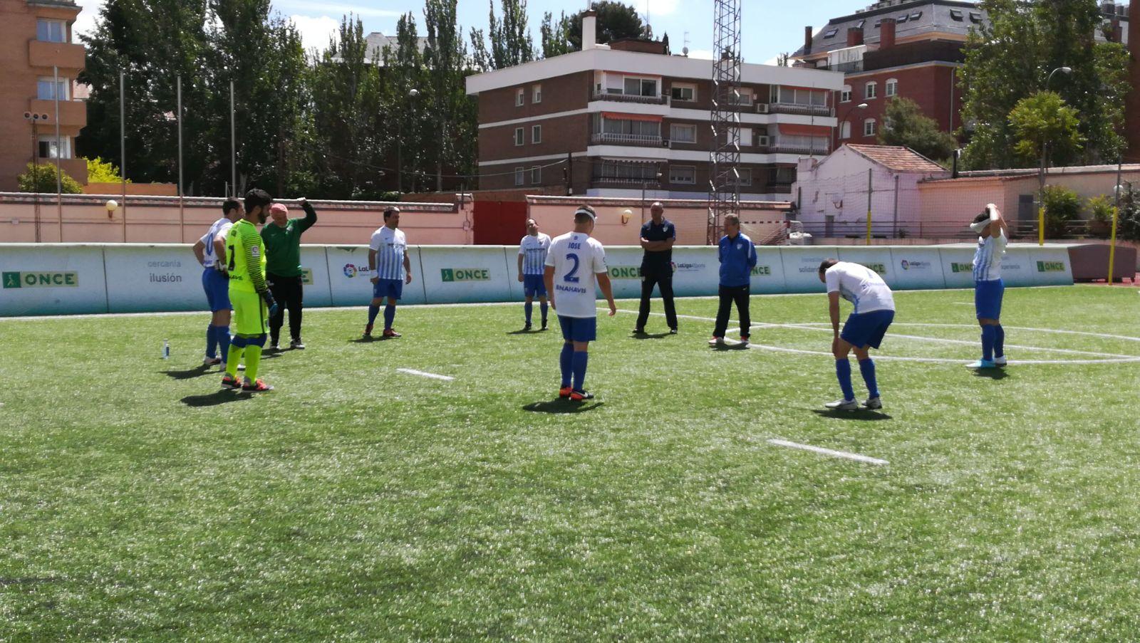 El ONCE Málaga en el calentamiento. Fuente: AD