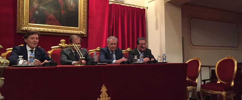 El presidente del CSD, José Ramón Lete, durante la conferencia. Fuente: CSD