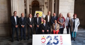 Barcelona presenta la imagen conmemorativa de los JJPP del 92