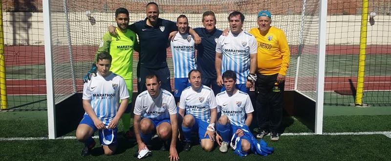 El ONCE Málaga, campeón de la Liga de fútbol para ciegos. Fuente: AD